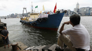 Chiếc tàu cá khởi hành từ Hong Kong để đi đến quần đảo tranh chấp