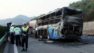 Hiện trường vụ tai nạn ở Thiểm Tây