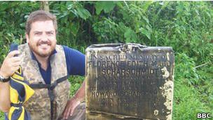 Stevenson visitando Greytown, en Nicaragua