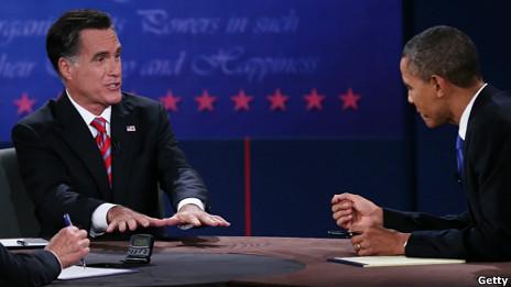 Дебаты между президентом Обамой и кандидатом в президенты Ромни
