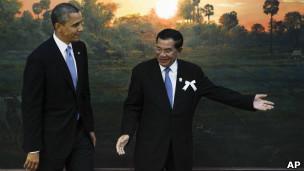 Thủ tướng Hun Sen của Campuchia và Tổng thống Barack Obama