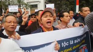 Biểu tình chống Trung Quốc ở Hà Nội hôm 9/12