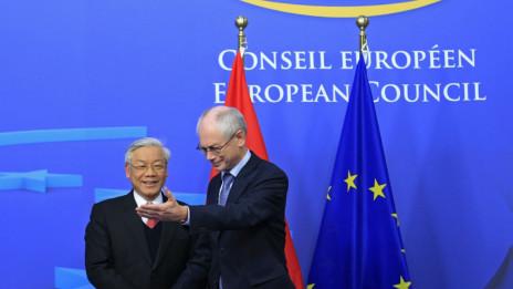 Ông Nguyễn Phú Trọng hiện đang thăm Liên hiệp châu Âu