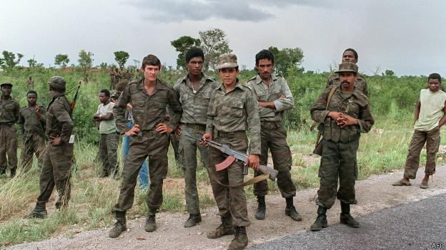 Soldados cubanos en Angola