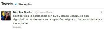 Twitter Nicolás Maduro