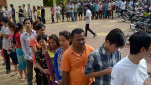 Người dân Campuchia tổng tuyển cử tháng 7 năm 2013