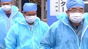 Trabajadores de la planta de Fukushima