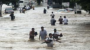 Afectados por las inundaciones