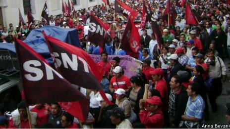 Protestas sindicalistas en Guatemala