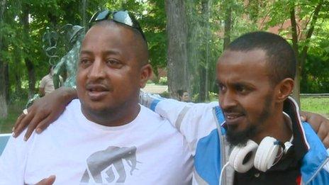 Tavanei Ayalny de Etiopía y Varsami Aidi de Somalia