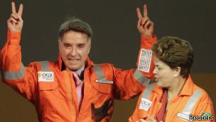 Eike Batista e Dilma Rousseff