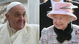 El papa Francisco y la reina Isabel