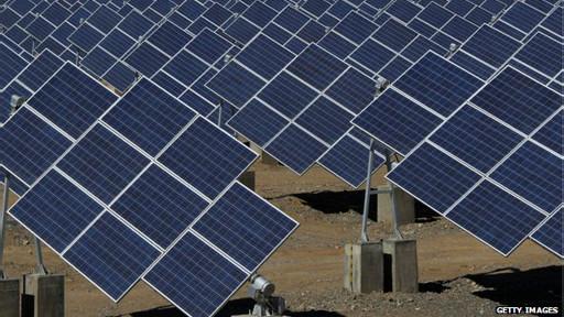 Fazenda solar na China (Getty)