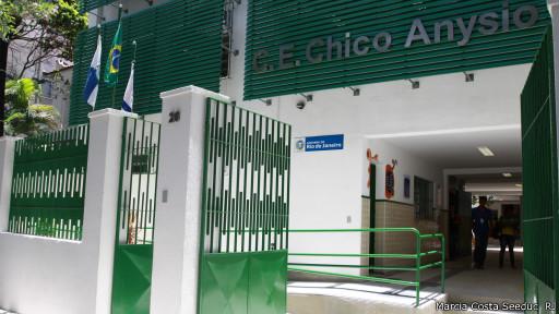 Escola estadual Chico Anysio, no Rio