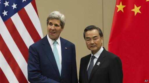 Ngoại trưởng Kerry và ngoại trưởng Vương Nghị