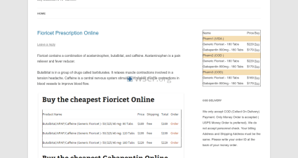 Fioricetprescription.biz Online Offshore Pharmacy