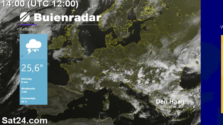 De satellietbeelden tonen waar de zon schijnt.