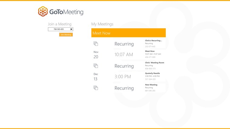 GoToMeeting app for Windows in the Windows Store