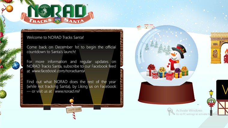 Norad Tracks Santa Screenshot