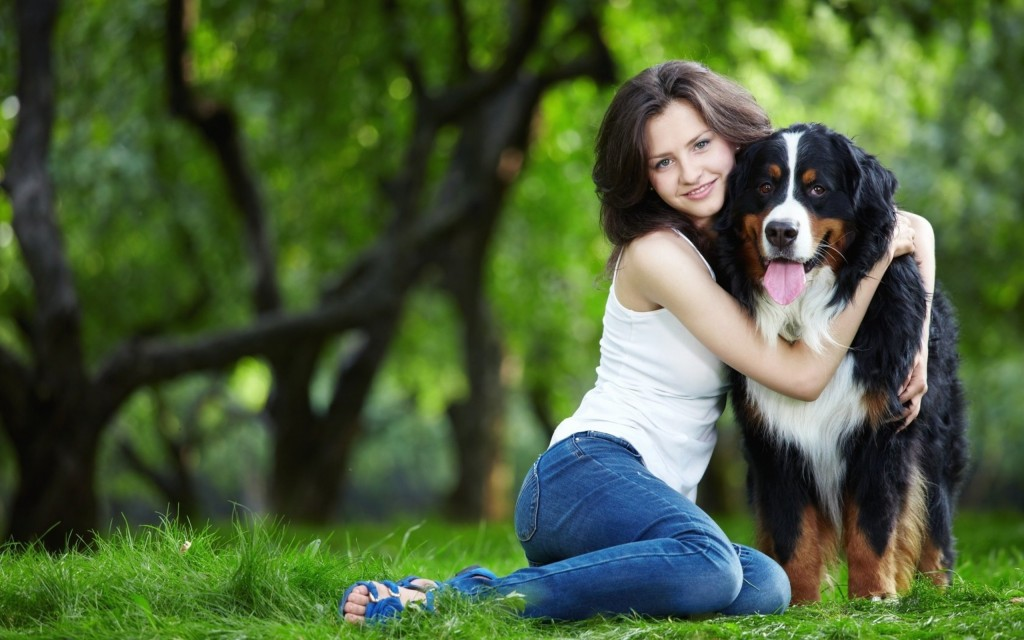 Cute Baby Wallpaper Download Hd Girl With Dog In Park Wallpaper Wide Screen Wallpaper