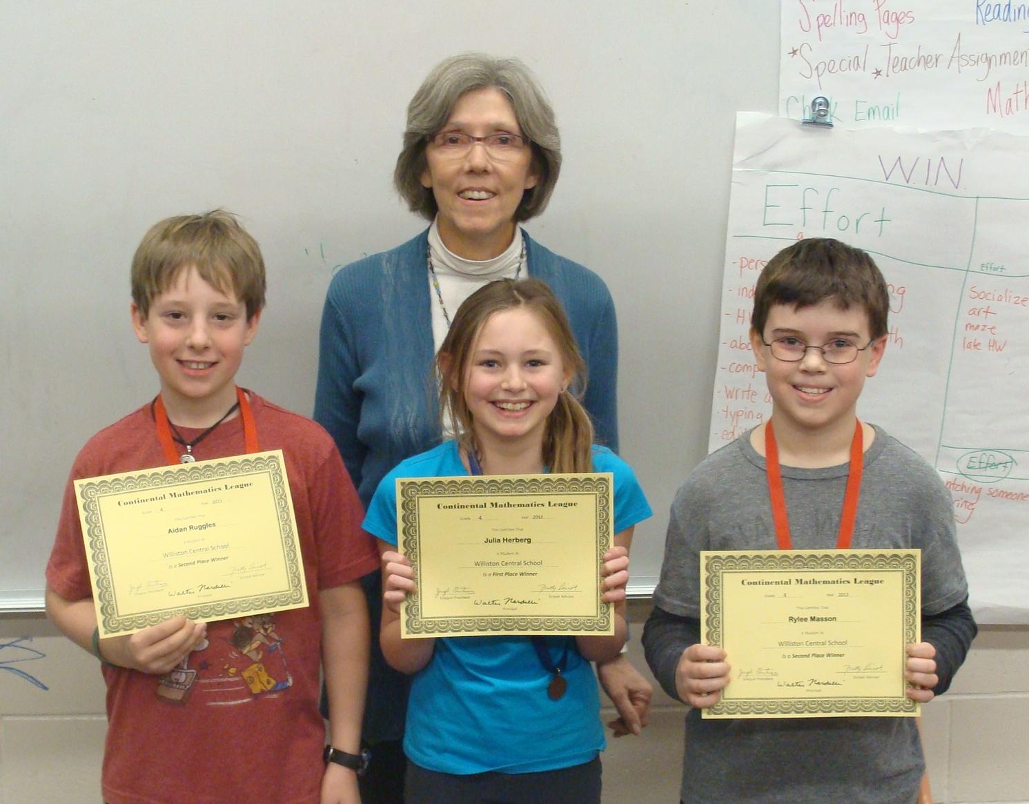4th Grade Continental Math League Practice Problems