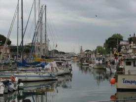 Trübe Aussichten am Hafen...