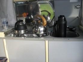 Wasserzubereitung aus dem Bully, da die Gaskartuschen erst-einmal eingefroren waren