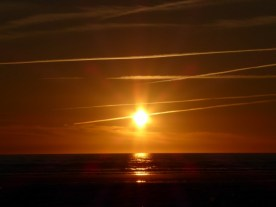 Um in Ruhe diesen Sonnenuntergang zu genießen