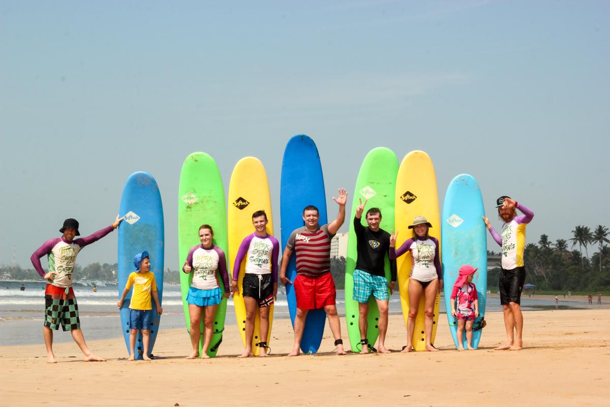 Школа серфинга на Щри-Ланке