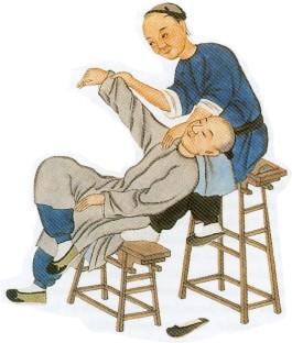 Shiatsu sulla sedia