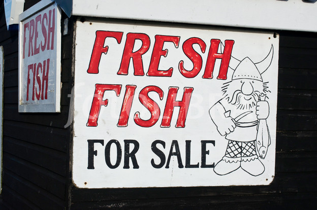 Fresh Fish For Sale Sign