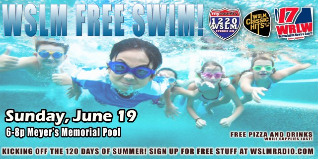 WSLM FREE SWIM AD SOCIAL MEDIA DATED