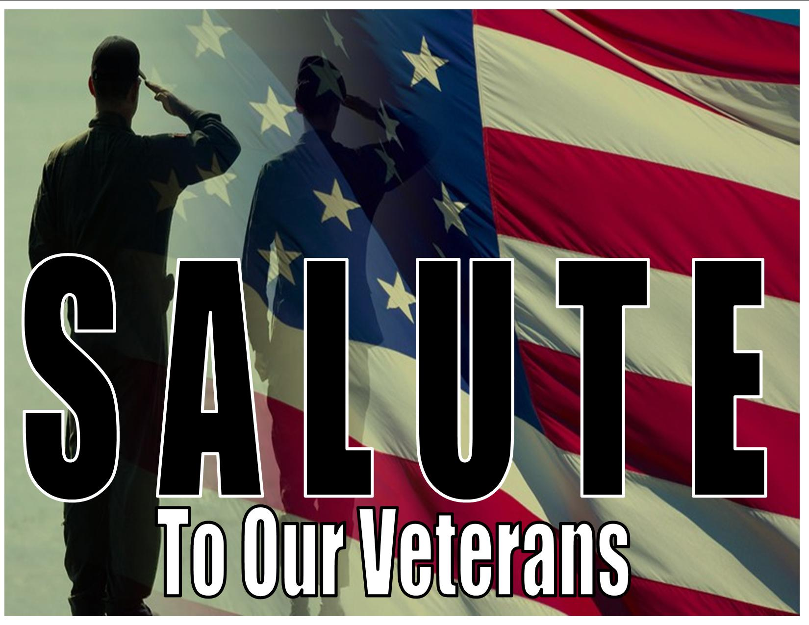 Image result for a Salute to our Veterans!