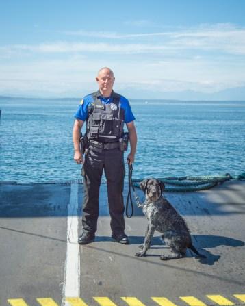 Trooper Mike Allan and K9 Frankie
