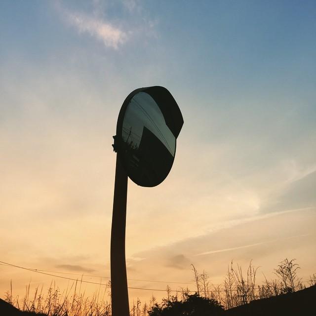 つかの間の晴れかぁ。#イマソラ #mysky #sunset #mirror #road