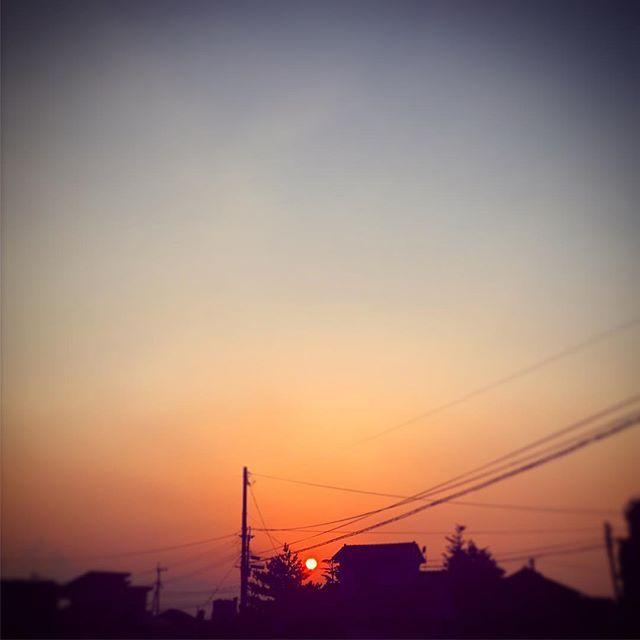 今日は真っ赤なまんまるおひさまでした!#イマソラ #mysky #sky #sunset #sun #fine #orange