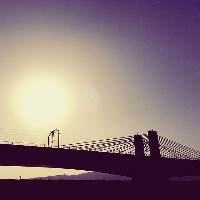 今日も無事終わりました。また明日。#イマソラ #mysky #sky #sun #sunset #bridge #fine