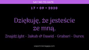 Dziękuję, że jesteście ze mną. Znajdź.lgbt – Jakub & Dawid – Grabari – Durex
