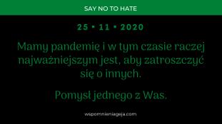 W czasie pandemii powinniśmy się wzajemnie o siebie troszczyć. 🥰