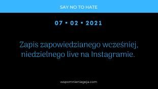 Podsumowanie live na Instagramie z dnia 07.02.2021 r.