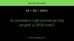 Ile zarobiłem i jak rozrósł się mój projekt w 2020 roku?