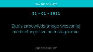 Podsumowanie live na Instagramie z dnia 31.01.2021 r.