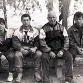 С учениками на сборах в 1990г.