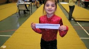 Раяна Гамбулатова на турнире по гимнастике
