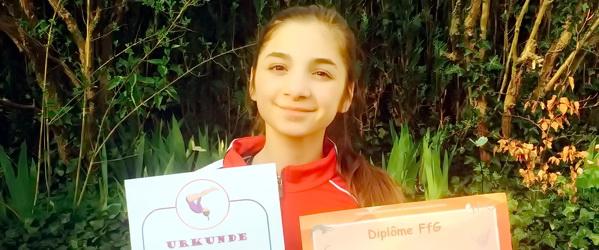 Чеченская гимнастка на первенстве Валлонии