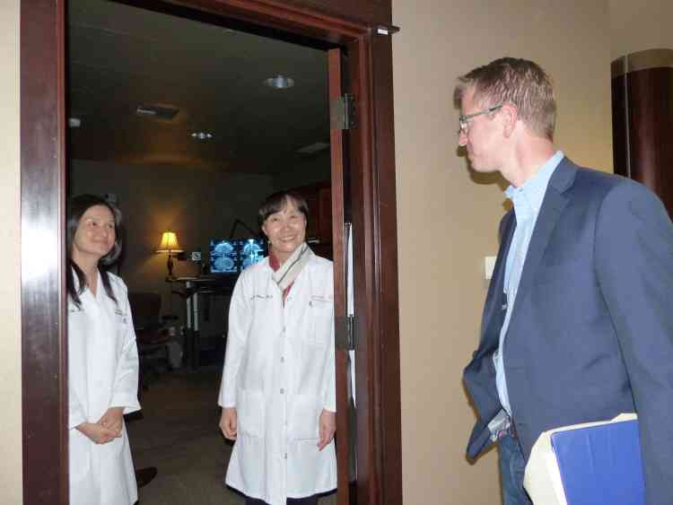 Rep Derek Kilmer meets radiologists at CMBC