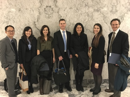 Members of the WSRS delegation stopped for a quick photo in the state capitol rotunda between visits to legislators. This year the group included both diagnostic radiologists and radiation oncologists and trainees.