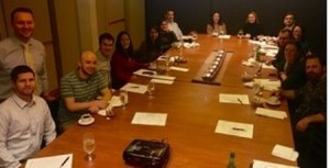 Gathering for the second WSRS YPS event since the group was established last year, young radiologists from the Puget Sound area met on a Saturday evening in late January to learn about financial planning from an expert, Brian Torgerson, CFP.
