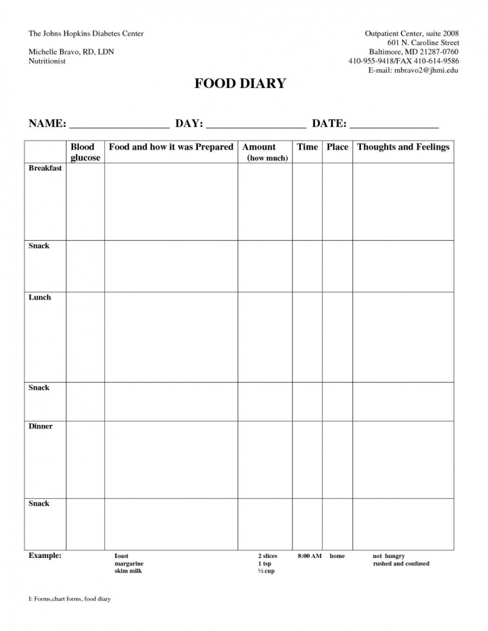 )(n.) (1) something that establishes or serves as a pattern for reference. Diabetes Food Log Template