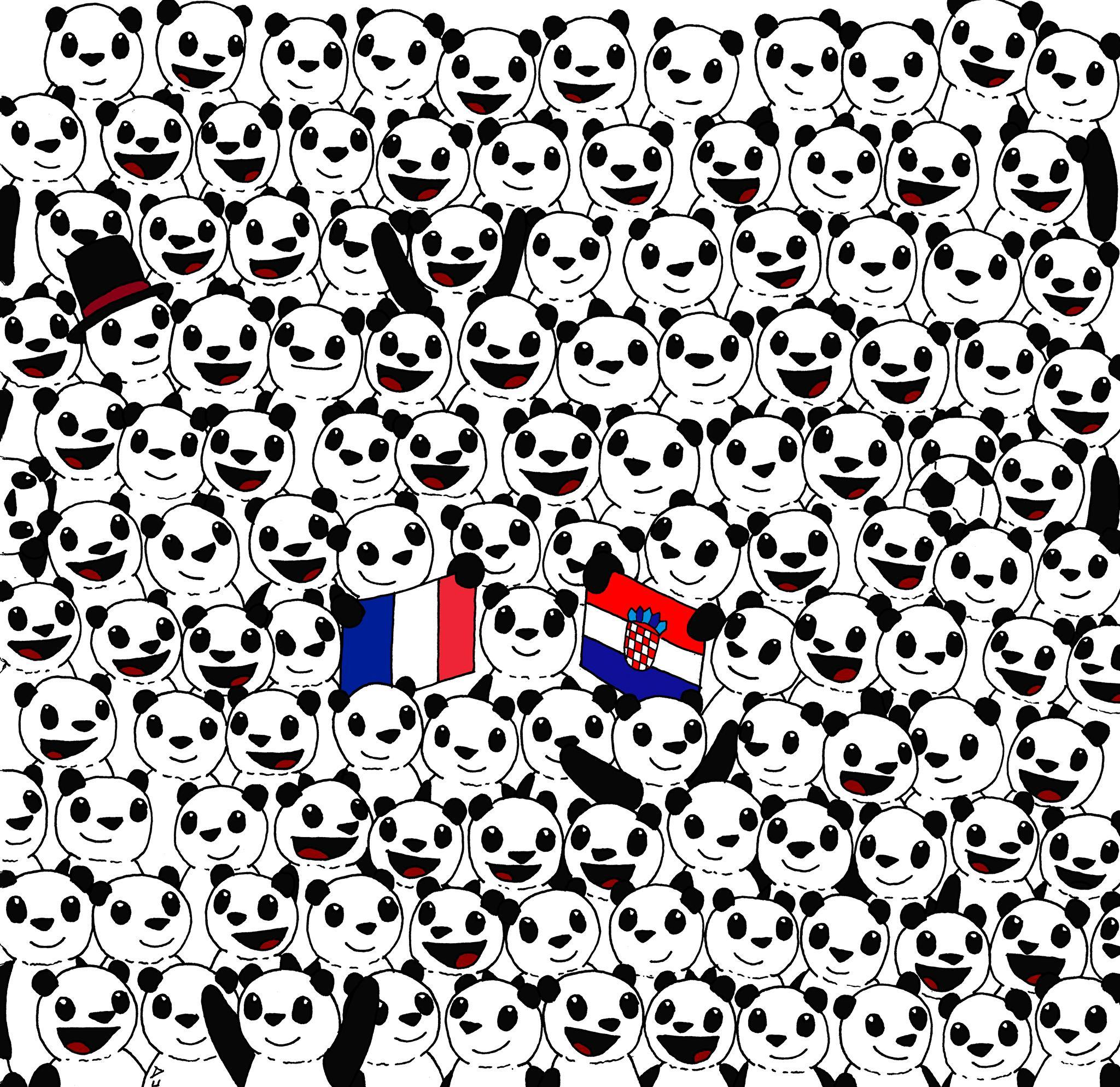 Can You Spot The Football Hidden Among The Pandas Tricky Optical Illusion Is Taking The